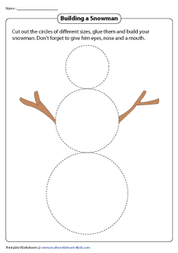 Cut and Glue Activity | Building a Snowman