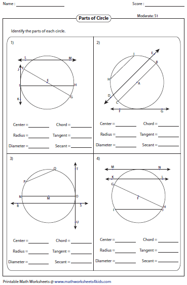Equations of circles worksheet answers geometry