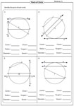 Identifying Parts of a Circle