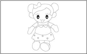Toys Coloring and Tracing Pages