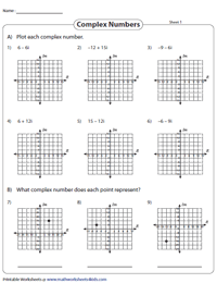 Complex Numbers Worksheets
