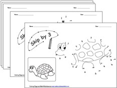skip counting coloring pages | Connect the Dots Coloring Pages