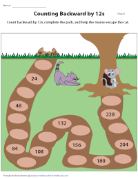 Complete the Path by Counting Backward by 12s