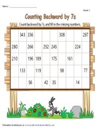 Counting Backward by 7s | Partially Filled Charts
