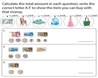 Counting Coins and Notes | Match