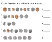 Counting coins | Coins up to 50 Pence