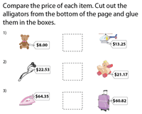 Comparing Prices - Cut and Glue Activity
