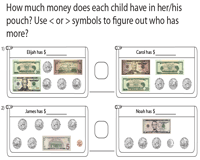 Comparing American Money - Coins and Bills
