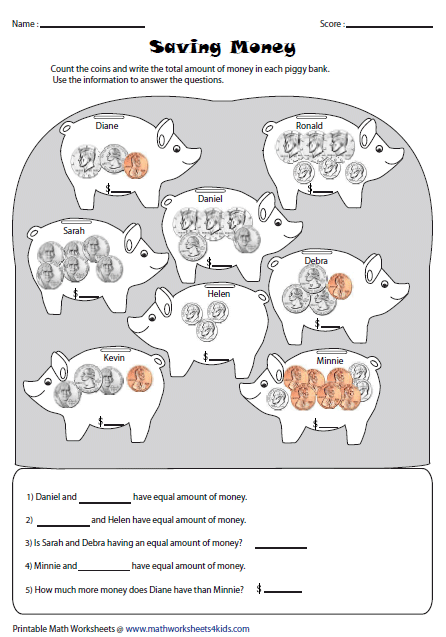 counting money worksheet - Worksheets for Kids Education & Free ...