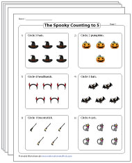 Count to 5 Worksheets