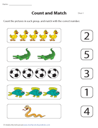 Matching Objects and Numbers