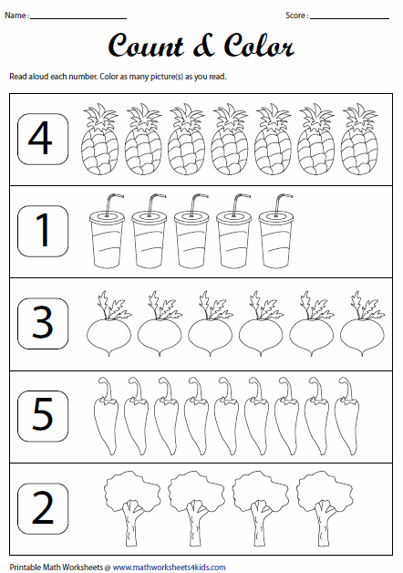 Printables Printable Counting Worksheets counting worksheets read and count