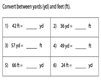 Conversion between Feet and Yards