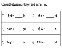 Conversion between Inches and Yards