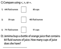 Conversion between Fluid Ounces and Cups