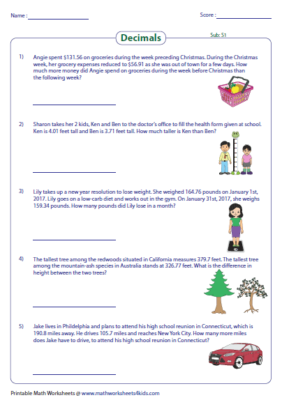 decimal word problems worksheets. Black Bedroom Furniture Sets. Home Design Ideas