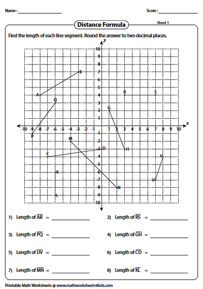 Length of Multiple Line Segments on a Graph