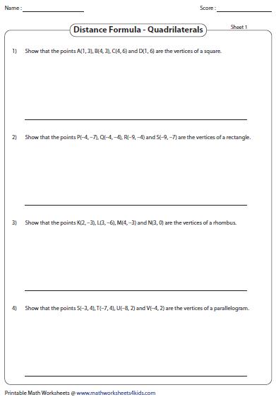 free math worksheets distance formula distance formula lesson free math helpmath worksheets. Black Bedroom Furniture Sets. Home Design Ideas