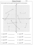 Length of a line segment: Graph