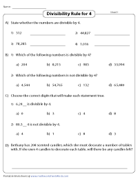 picture relating to Divisibility Rules Printable called Divisibility Check out Worksheets Divisibility Recommendations versus 2 toward 12