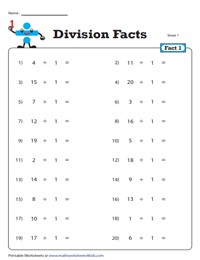 Division Fact - 1