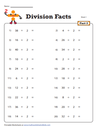 Division Fact - 2