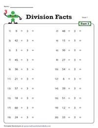 Division Fact - 3
