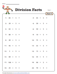 Division Fact - 5