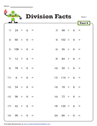 Division Fact - 6