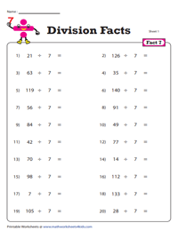 Division Fact - 7