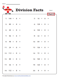 Division Fact - 8