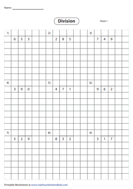 Division using Grids | 2-digit by 1-digit