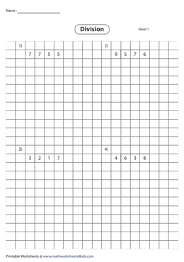 3-digit by 1-digit Division using Grids