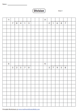 Division using Grids | 4-digit by 1-digit