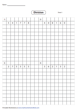 Division using Grids