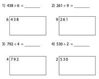 Area Model Worksheets | Without Remainder