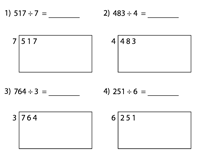 Area Model Worksheets | With Remainder
