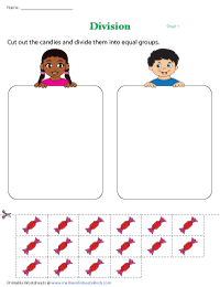 Division by Sharing | Cut-and-Paste Activity