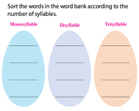 Easter syllable sorting