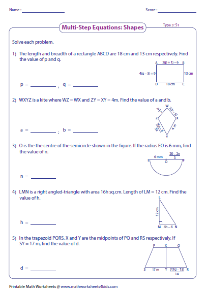 Worksheets Solving Multi Step Equations Worksheet multi step equation worksheets preview