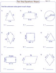 Equations in geometry: Type 1