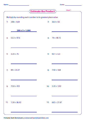 math worksheet : estimating decimals and fractions worksheets : Divide Decimals Worksheets