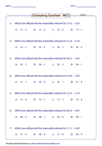 math worksheet : estimating decimals and fractions worksheets : Estimating Fractions Worksheet