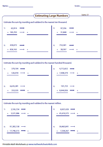math worksheet : estimating sums  differences worksheets : Estimation Addition Worksheets