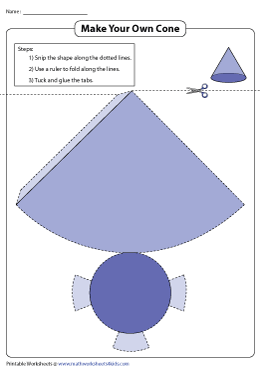 Foldable Net of a Cone