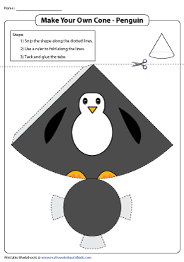 Net of a Cone | Penguin Theme