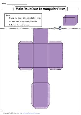 Foldable Net of a Rectangular Prism
