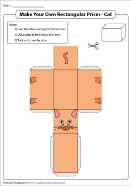 Make Your Own Rectangular Prism Cat