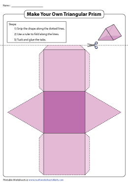 Foldable Net of a Triangular Prism