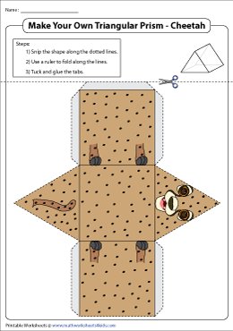 An Animal-Themed Triangular Prism